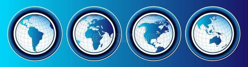 Karten der Welt vektor abbildung
