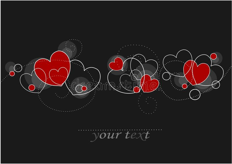 Karten mit roten Inneren vektor abbildung