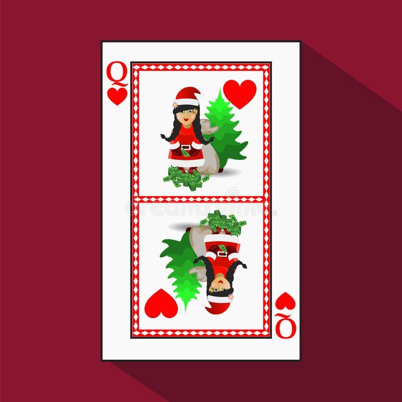 Karten-neues Jahr ` s Poker vektor abbildung
