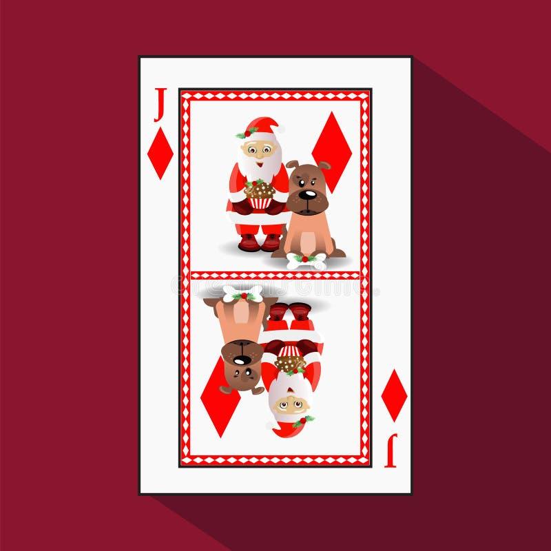 Karten-neues Jahr ` s Poker Abbildung stock abbildung