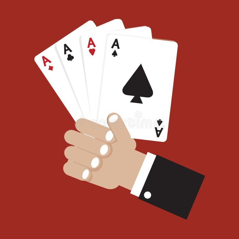 Karten-Spielen. vektor abbildung