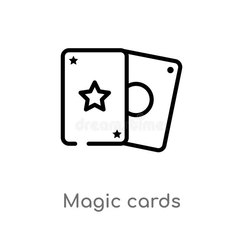 Karten-Vektorikone des Entwurfs magische lokalisiertes schwarzes einfaches Linienelementillustration von der Unterhaltung und vom vektor abbildung