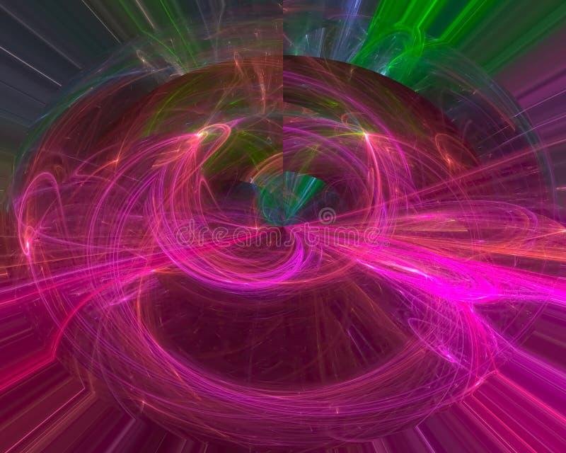 Karten-Verzierungslocke des abstrakten digitalen Fractal dekorative kreativ, Schablone künstlerisch, Eleganz, Dynamik lizenzfreies stockfoto