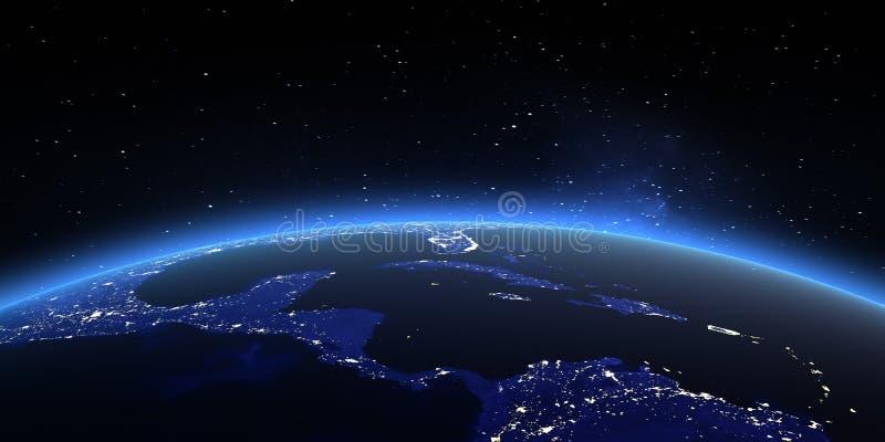Karten von die NASA-den Bildern lizenzfreie abbildung