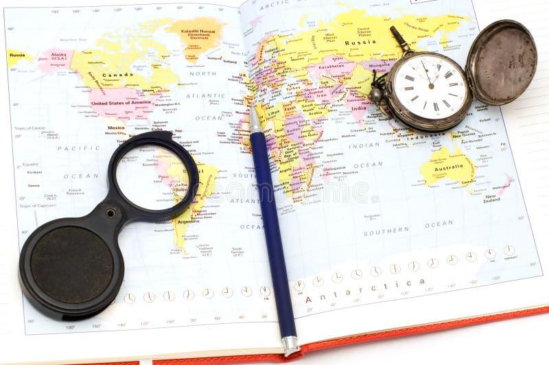 Karten-Welt lizenzfreies stockfoto
