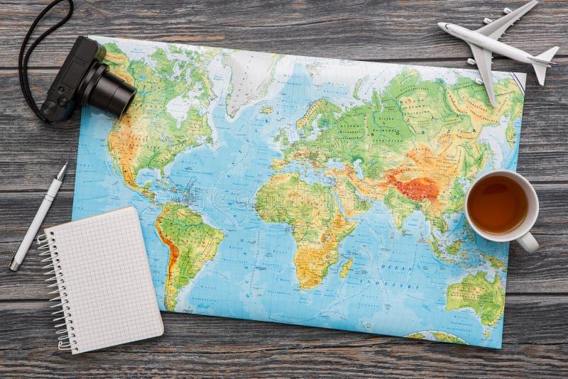 Karten-Weltkonzept der Dienstreise reisendes lizenzfreie stockbilder