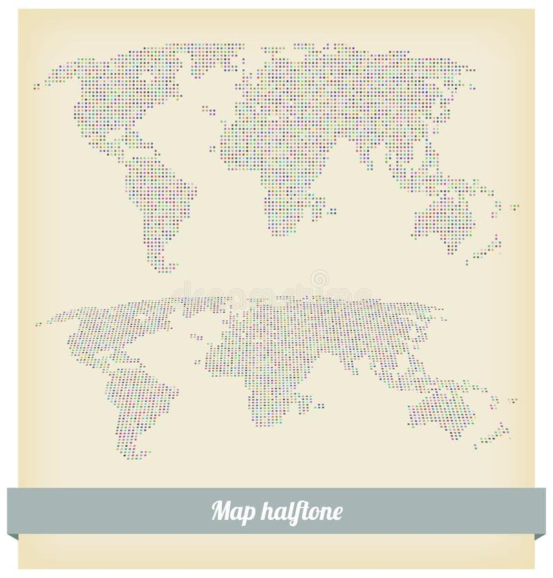 Kartenhalbtonvektor lizenzfreie abbildung