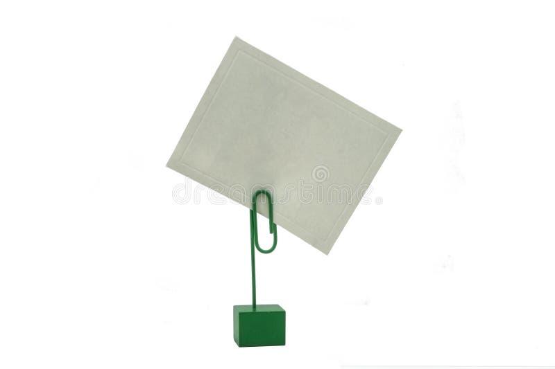 Kartenhalter lizenzfreies stockbild
