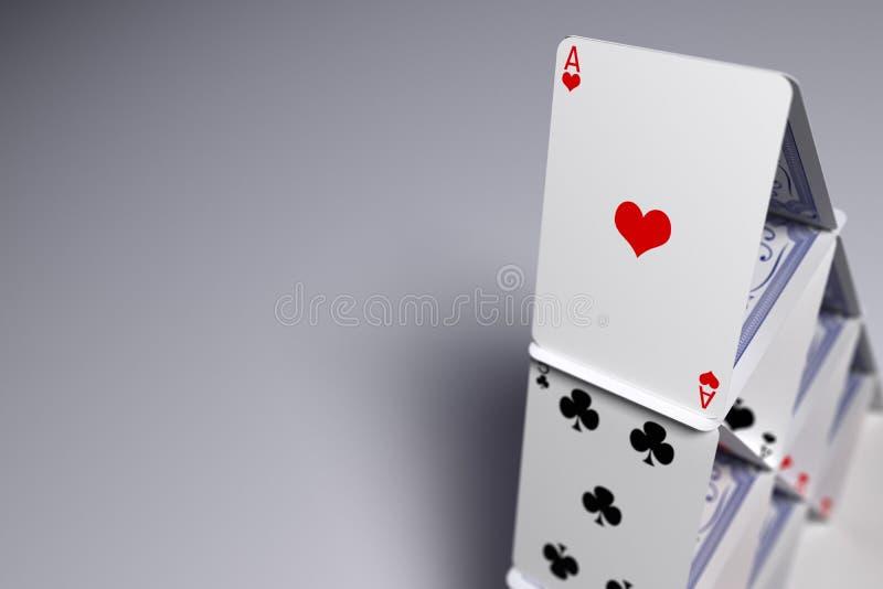 Kartenhaus lizenzfreie abbildung
