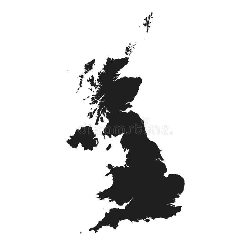 Kartenikone Vereinigten K?nigreichs Vektor lokalisiertes hohes ausführliches Bild von Großbritannien vektor abbildung