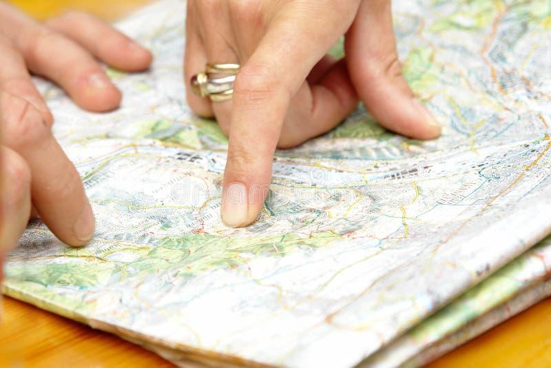 Kartennavigation stockbild