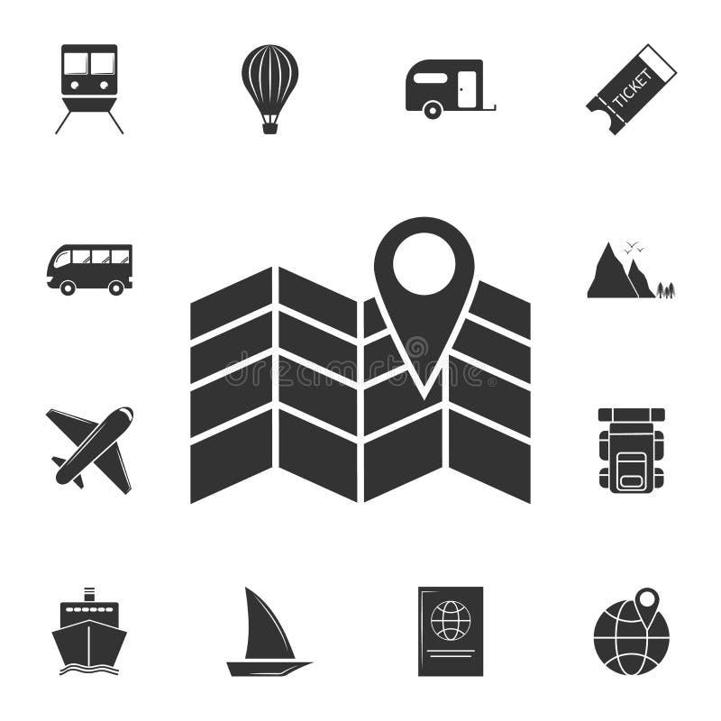 Kartenpunktikone Ausführlicher Satz Reiseikonen Erstklassiges Grafikdesign Eine der Sammlungsikonen für Website, Webdesign, beweg vektor abbildung