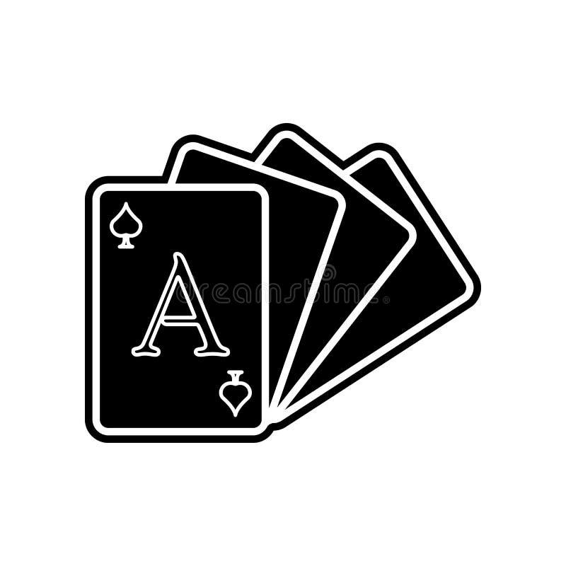 Kartensatzikone Element des Kasinos f?r bewegliches Konzept und Netz Appsikone Glyph, flache Ikone f?r Websiteentwurf und Entwick stock abbildung