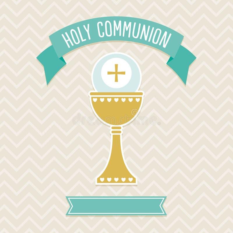 Kartenschablone der heiligen Kommunion lizenzfreie abbildung