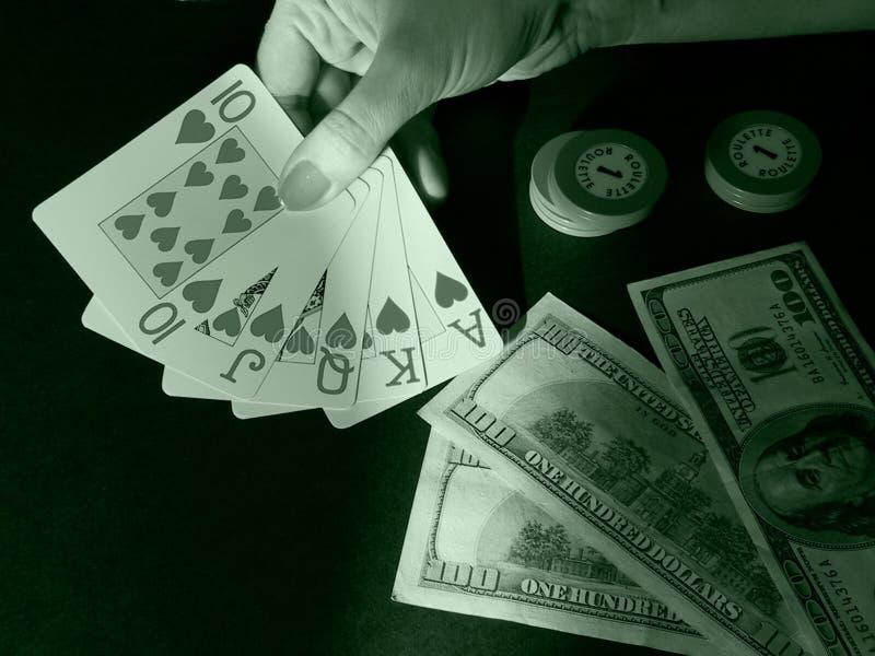 Kartenspielen (Spielen) stockfotos