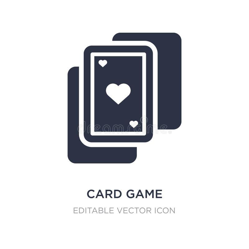 Kartenspielikone auf weißem Hintergrund Einfache Elementillustration vom Unterhaltungskonzept lizenzfreie abbildung