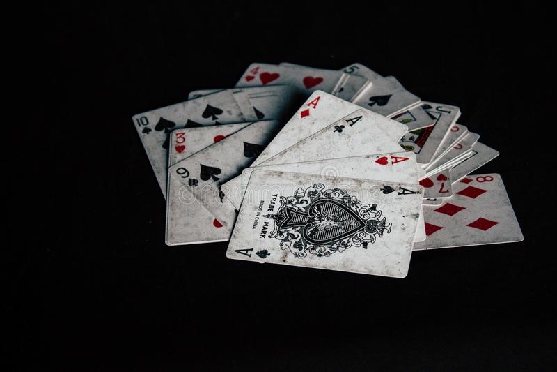 Kartenstapel stockfotos