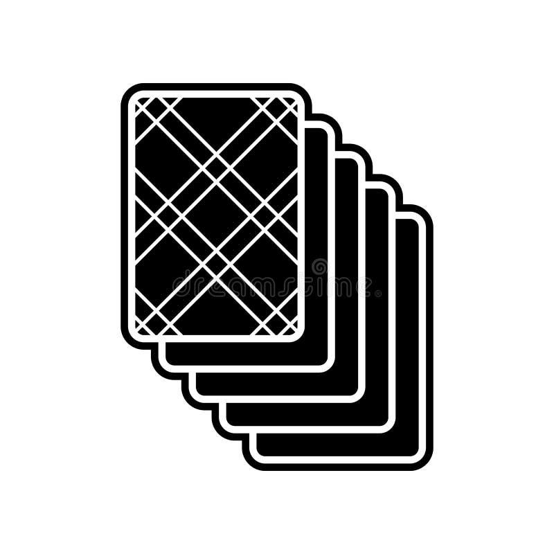 Kartenstapel auf der hinteren Ikone Element des Kasinos f?r bewegliches Konzept und Netz Appsikone Glyph, flache Ikone f?r Websit vektor abbildung