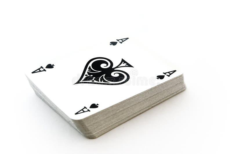 Kartenstapeles lizenzfreies stockfoto