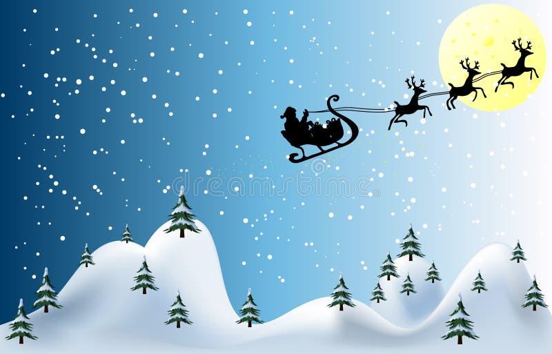 Kartenvektorabbildung der frohen Weihnachten vektor abbildung