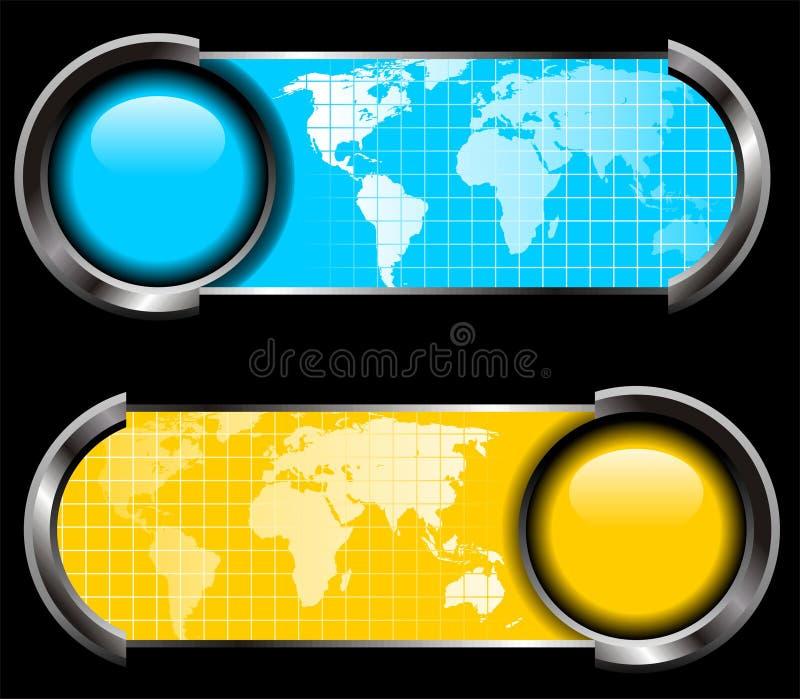 Kartenweltpanelvektor lizenzfreie abbildung