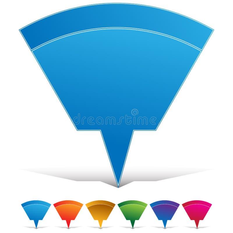 Kartepin-Web-Taste stock abbildung