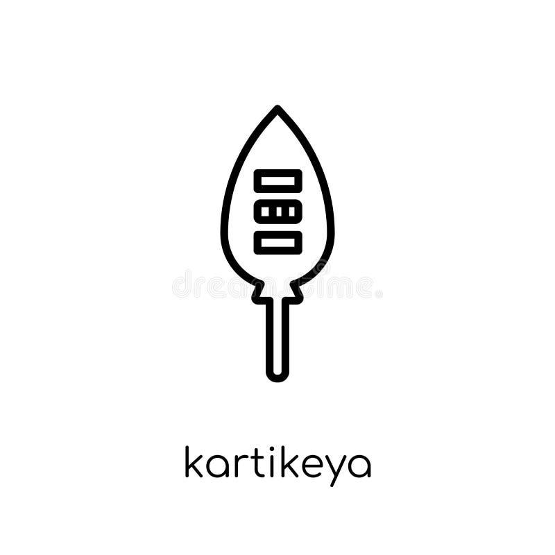 Kartikeyapictogram In modern vlak lineair vectorkartikeya-pictogram vector illustratie
