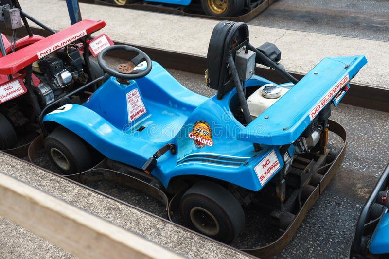 Karting car, Plymouth, Devon, United Kingdom, August 20, 2018. Karting car, Plymouth, Devon United Kingdom August 20 2018 stock photos