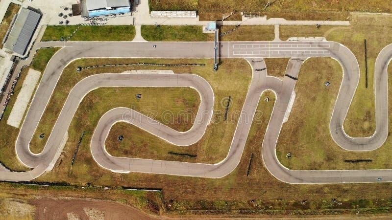 Karting obwód - wąż z góry zdjęcie royalty free