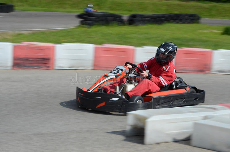 Karting race arkivbild