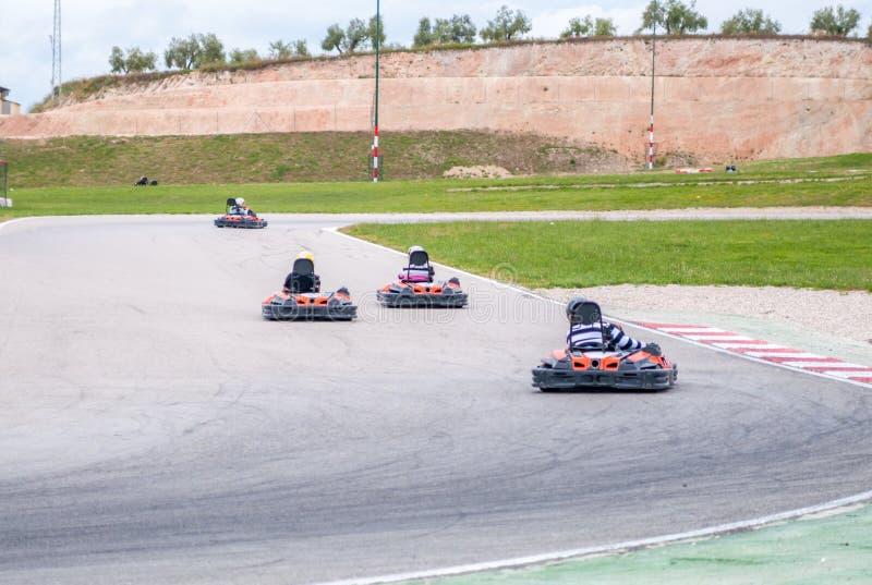 Karting race arkivfoton