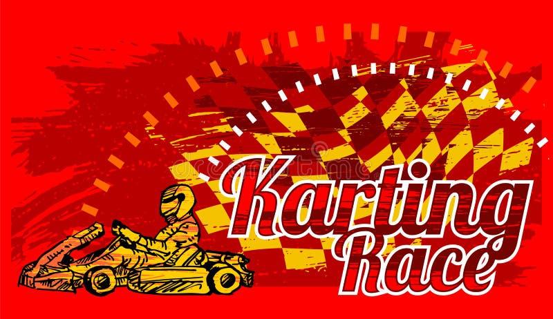Karting race stock illustrationer