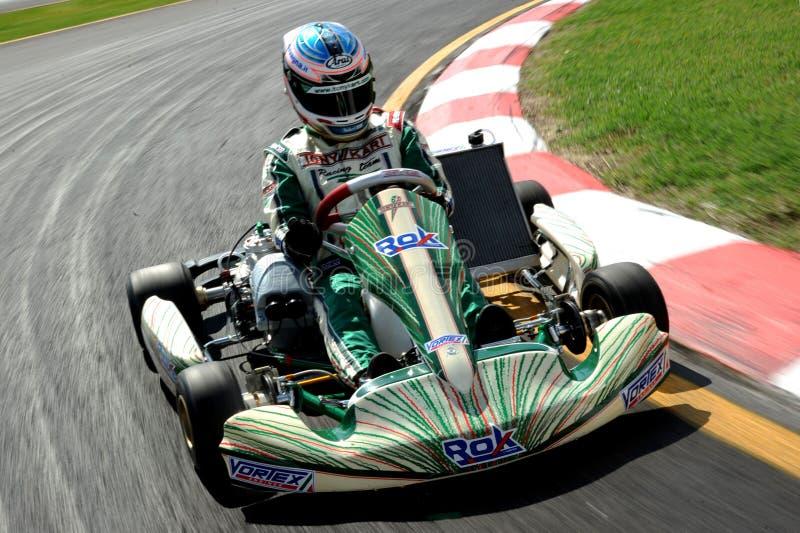 Karting-Rennen-Rok-Schale stockbild
