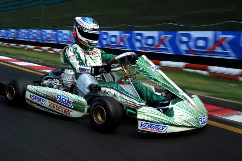 Karting-Rennen-Rok-Schale stockfotos