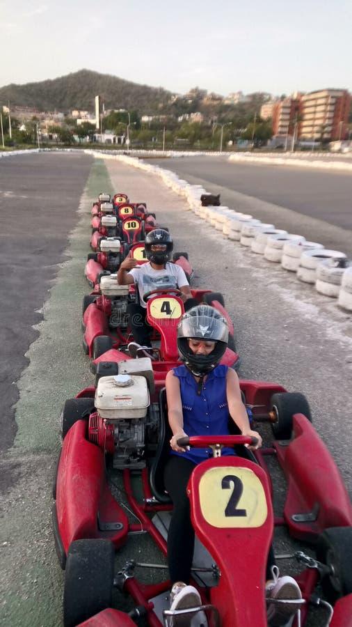 Karting rouge images libres de droits