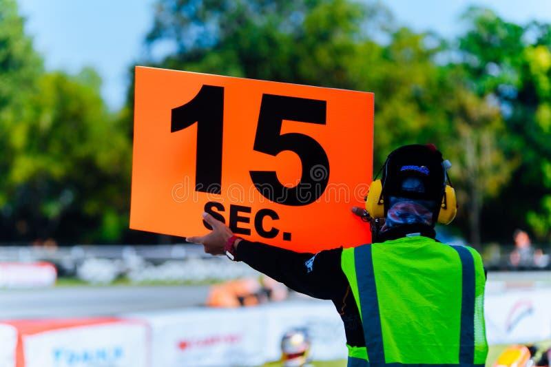 Karting 15 Sekunden stockbild