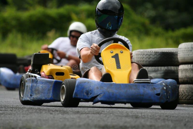 Karting sluit aanhanger stock foto's