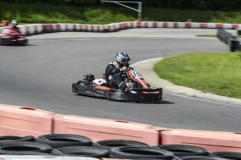 Karting sport royaltyfria bilder