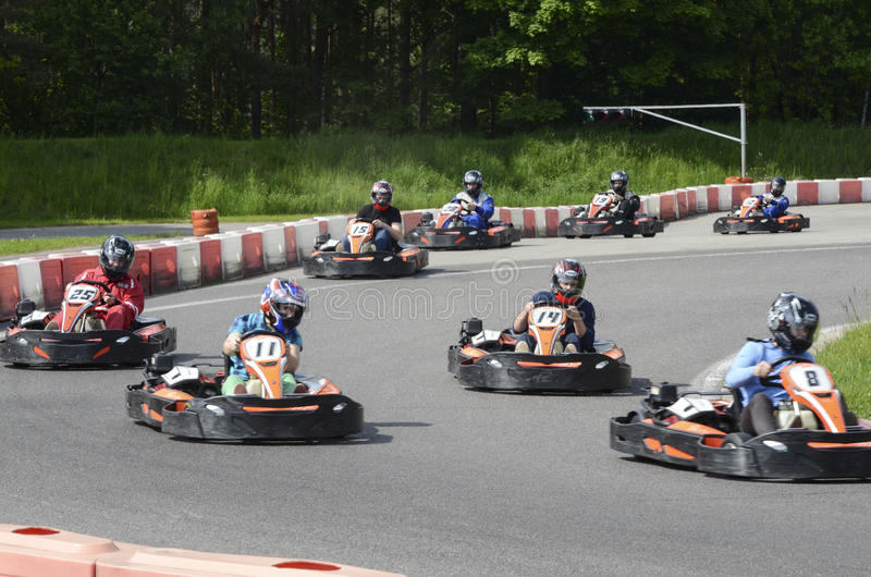 Karting sport royalty free stock images