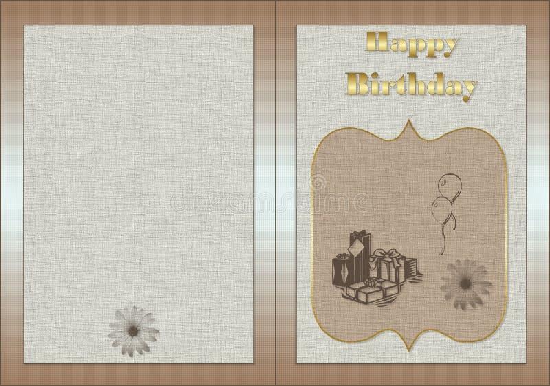 kartkę na urodziny ilustracji