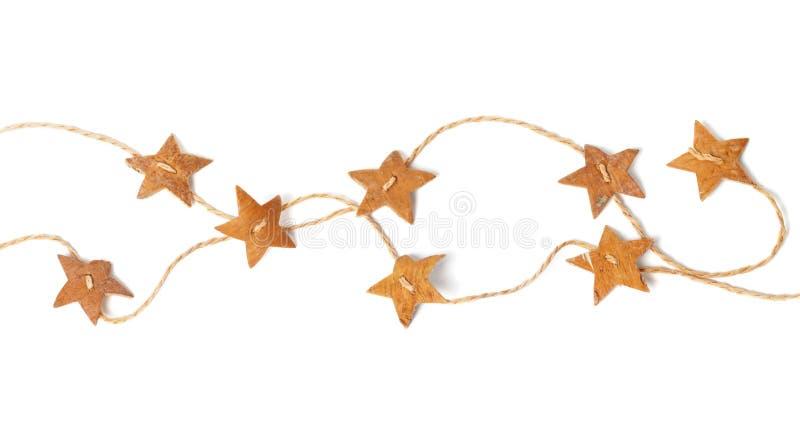 Kartka Bożonarodzeniowa, gwiazda łańcuch fotografia royalty free
