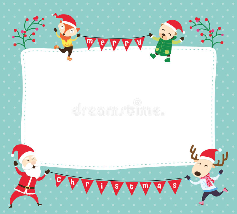Kartka bożonarodzeniowa szablon ilustracja wektor