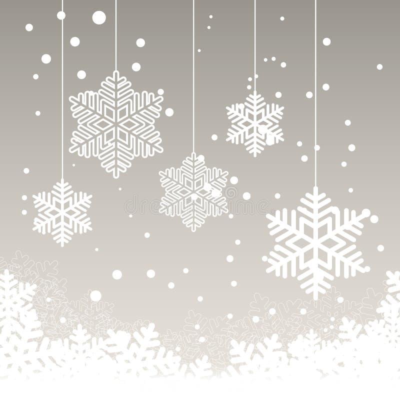 Kartka bożonarodzeniowa z śniegiem royalty ilustracja