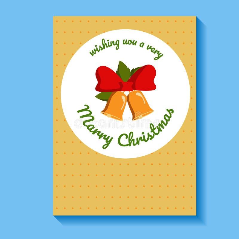 Kartka bożonarodzeniowa z życzeniami wektor sztandar royalty ilustracja