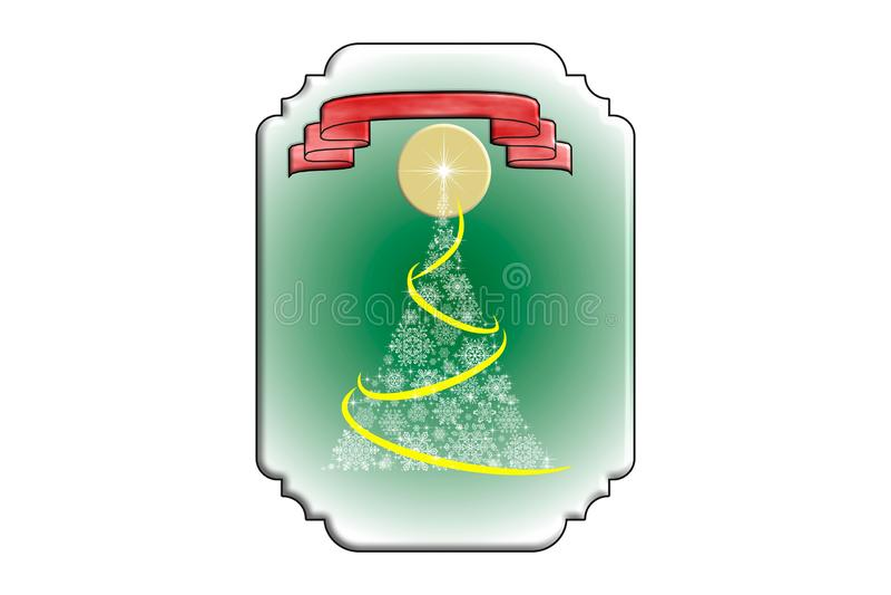 Kartka bożonarodzeniowa z choinką ilustracji