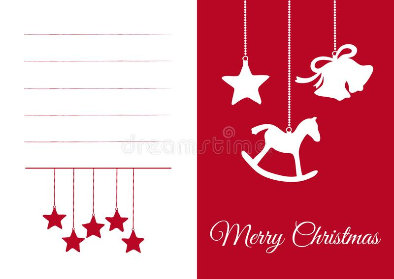 Kartka Bożonarodzeniowa z Sezonowymi symbolami i pustych miejsc polami ilustracji