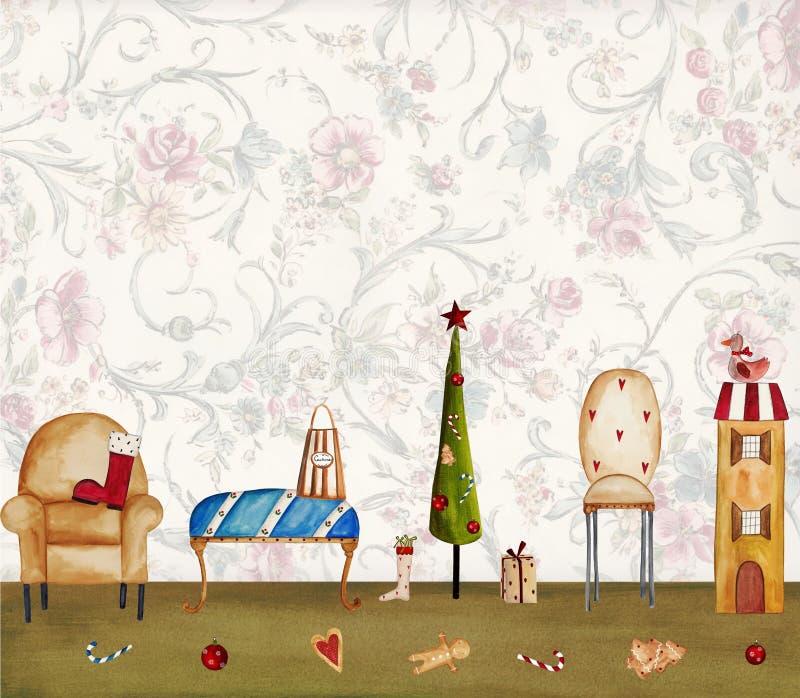 Download Kartka bożonarodzeniowa ilustracji. Obraz złożonej z noel - 28345636