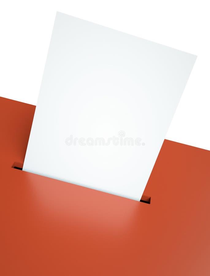 kartka do głosowania ilustracja wektor