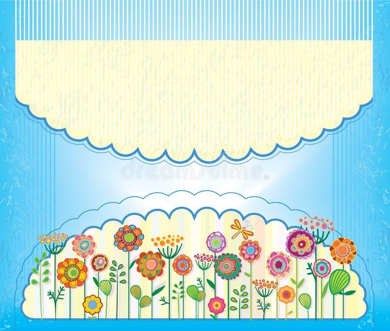Kartka Z Pozdrowieniami dla gratulacje lub zaproszenia ilustracji
