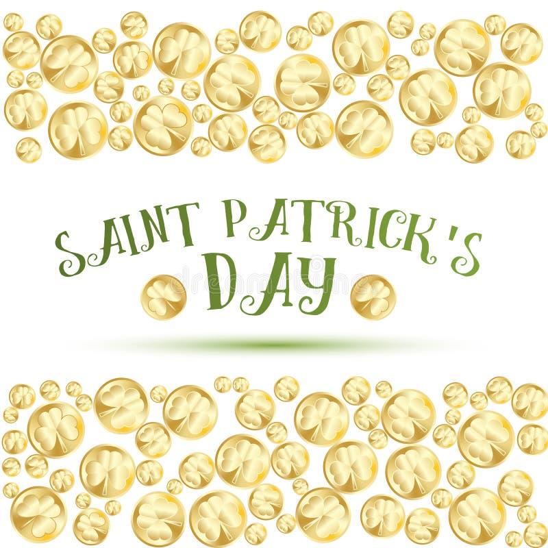 Kartka z pozdrowieniami dla St Patrics dnia ilustracji